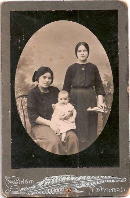 Сёстры Рыжовы : Елизавета Константиновна Черногубова и Вера Константиновна Ершова.
