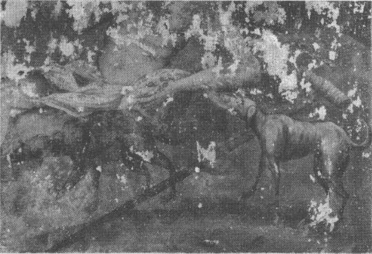 Фрагмент росписи. Фот. 1986 г.