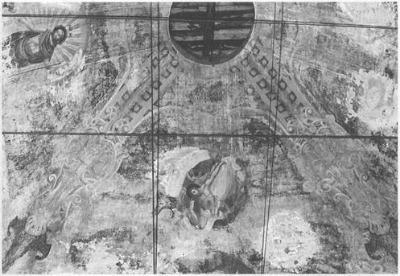 Фрагмент росписи свода. Фот. 1986 г