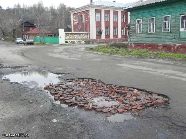 Прокуратура Юрьевецкого района обратилась в суд с иском к администрации г. Юрьевца о проведении ремонта дорог