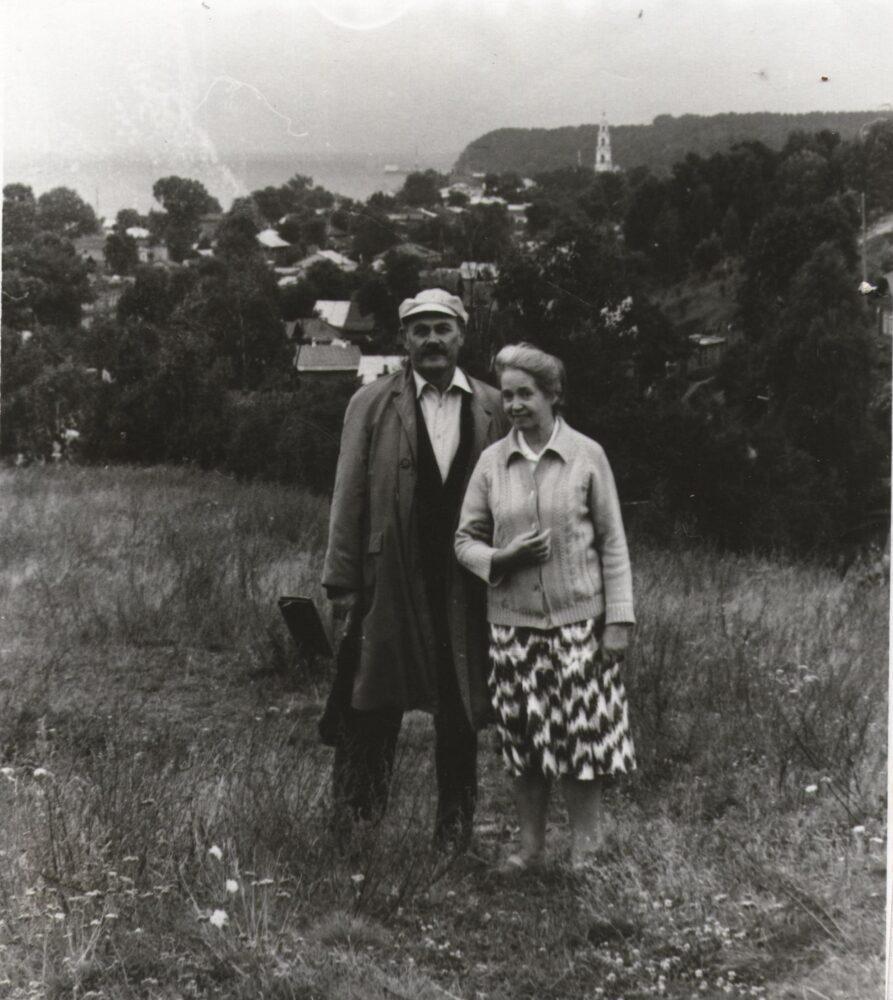 Шишлов А.П. с женой в Юрьевце